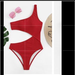 Other - Red One piece cut out bathing suit size medium